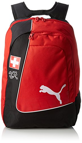 Puma Backpack Mochila Country de Licencia Oficial Rojo Red/White/Swiss Talla:34 x 19 x 48 cm, 31 Liter