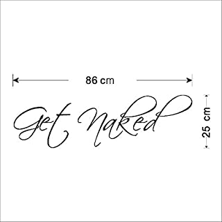 MZY LLC Get Naked Bathroom Wall Stickers