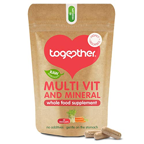 Multi VIT & Mineral – Together Health – Everyday Nutrient Top-Up – 24 Whole Food & Plant-Based Nutrients – Vegan Friendly – Made in The UK – 30 Vegecaps