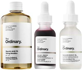 The Ordinary 3 Bottles Face Serum Set! Peeling Solution, Hyaluronic Acid And Glycolic Acid! AHA 30%+BHA 2% Peeling Solution! Hyaluronic Acid 2%+B5! Glycolic Acid 7% Toning Solution