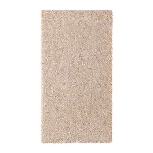STOENSE IKEA Kurzflor Teppich in elfenbeinweiß; (80x150cm)