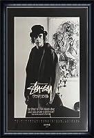 ポスター ステューシー ステューシー20th Anniversary プリント11 額装品 ウッドハイグレードフレーム(ネイビー)