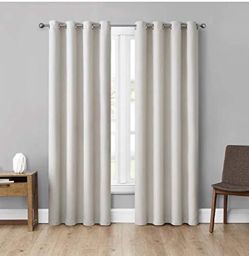 Eclipse Absolute Zero Curtains, 2-Pack (Cream) 84 in