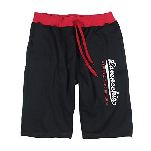 Lavecchia Jogging-Bermuda schwarz/rot Übergrößen 4XL - 8XL, Größe:4XL