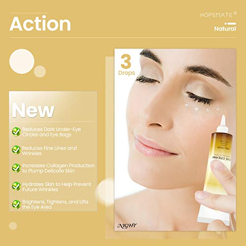 411T+hXqdFL - HOPEMATE Anti Age Eye Cream, Reduce Dark Circles, Puffiness Under Eye Bags,Effective Anti-Wrinkles Treatment - Anti-Aging Eye Gel with Hyaluronic Acid Natural and Organic Anti Aging Eye Balm To Reduce