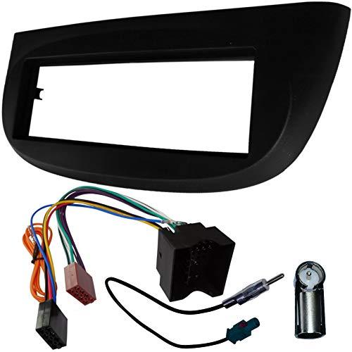 AERZETIX - Adaptateur Façade Cadre Réducteur Kit - 1DIN - Moulage Cache en Plastique pour remplacer Changer Monter autoradio d'origine par Radio Standard de Voiture Auto - C1403B