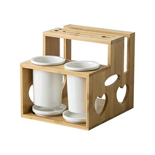 LLKK Porta-Utensilios de Cocina,Soporte para Cubiertos,Soporte para Utensilios de Cocina,Ventilado,ventilado y drenable,Puede almacenar Utensilios de Cocina de Tabla de Cortar