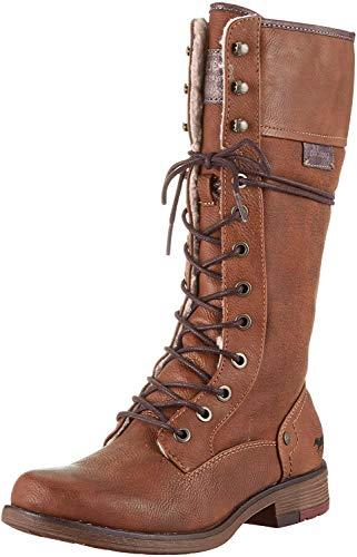 MUSTANG Shoes Stiefel in Übergrößen Braun 1295-606-301 große Damenschuhe, Größe:45