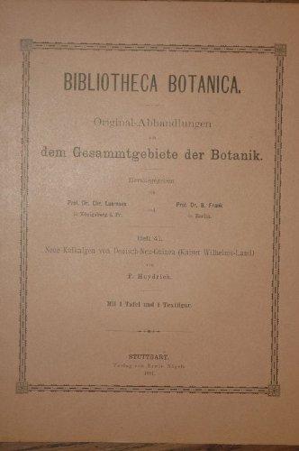 Neue Kalkalgen von Deutsch-Neu-Guinea (Kaiser Wilhelms-Land).