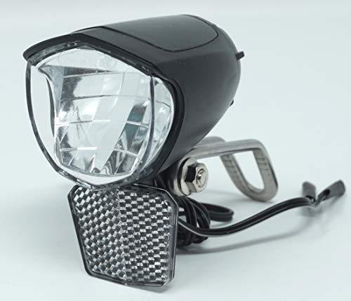 CBK-MS Fahrradlicht LED Scheinwerfer 75 Lux mit Sensor Schalter und Standlicht Fahrradlampe mit StVZO Zulassung