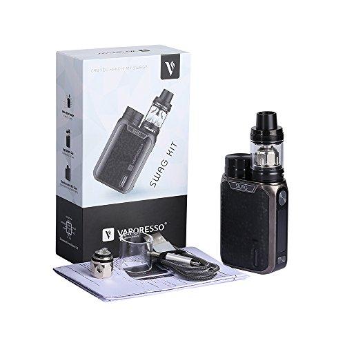 Vaporesso SWAG Kit 80W Kit 2mL Kit de inicio Cigarrillo electrónico (Negro) con Extra Vape Band Sin Tabaco y Sin Nicotina