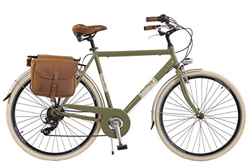 Via Veneto by Canellini Bicicletta Bici Citybike CTB Uomo Vintage Retro Via Veneto Alluminio Verde Oliva Taglia 54