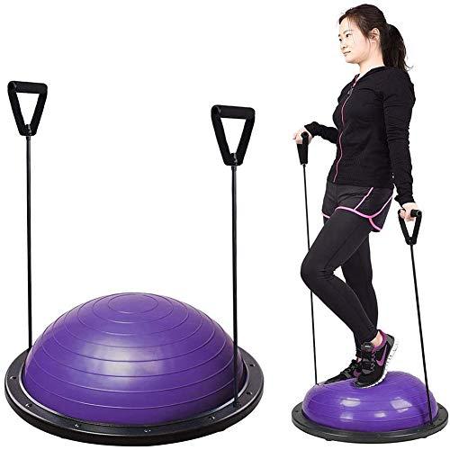 CGBF-Yoga Bal Oefening Ball Gym Ball Balance Ball Trainer 58CM 300Kg Capaciteit met Weerstandsbanden en Pomp voor Fitness Kracht Oefening Gebruik