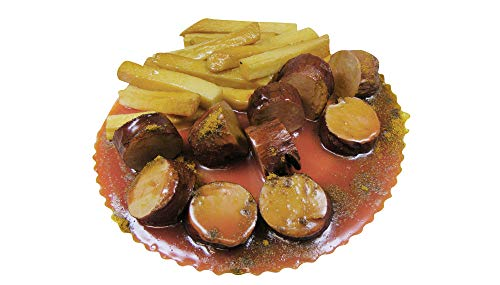 Dummy currywurst rouge avec faux-coupe frites food