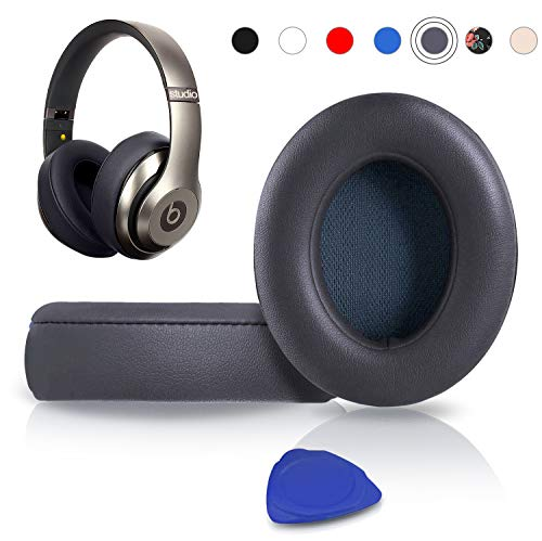 Professional Beats Studio Replacement Ear Pads Cushions -Earpads Compatible with Beats Studio 2 & 3 Wired/Wireless Over-ear Headphones with Soft Protein Leather/Noise Isolation Memory Foam