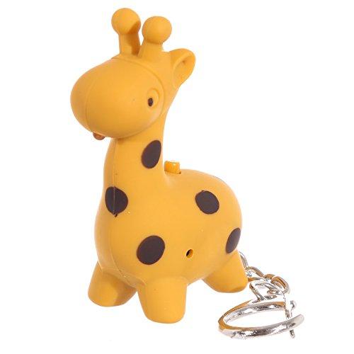 PK Green Giraffe Chiave LED Torcia - Animal LED Keychain con Luce e Suono