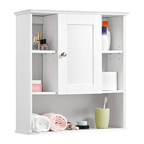 Buy Bargain Kealive Bathroom Wall Cabinet, Wall Mounted Bathroom Storage Cabinet with Door and Adjus...