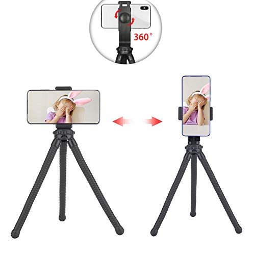telefoon statief, standaard houder met verstelbare kogelkop 360 rotatie, flexibele voetbuizen, buigzaam, anti-schudden, trillingsbestendig, voor digitale camera actiecamera's smartphone