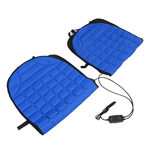 Yctze Chair Heating Pad, Thickening Car Heated Double Seat Cushion Chair Heating Pad 12V(Blue)