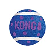 KONG - Cat Active Tennis Balls with Bells - Cat Play Toys with Interior Bell - 3 Pack