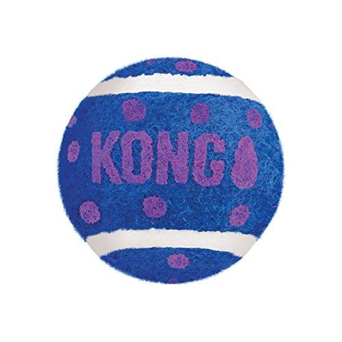 KONG – Cat Active Tennis Balls with Bell – Katzenspielzeug mit Glöckchen im Innern – Dreierpack