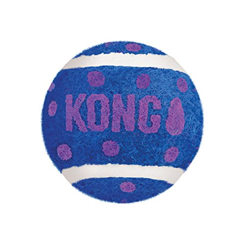 KONG - Cat Active Tennis Balls with Bells - Juguete para Gatos con un Cascabel Dentro - Pack de 3