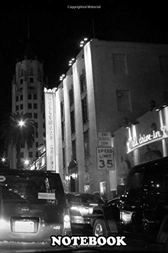 Notebook: Hollywood At Night , Journal for Writing, College Ruled Size 6