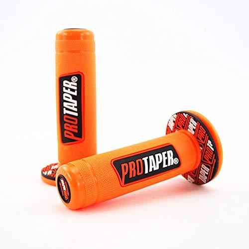 USPANDI Neue Ankunft 22mm Universal Motorrad Lenker Teil Racing Motorrad Lenker Für Protaper Yamaha KTM Motocross Moto Grip Pit Bike (Farbe : Orange)