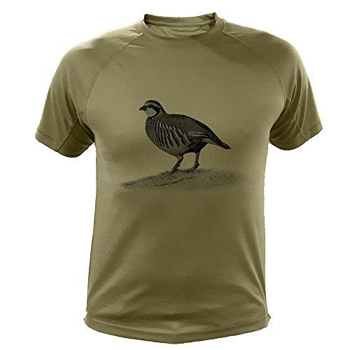 Camisetas Personalizadas de Caza, Perdiz roja - Ideas Regalos (30166, Verde, L)