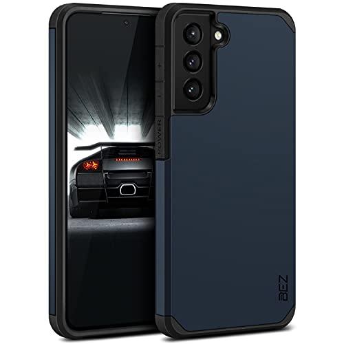 BEZ Cover Samsung S21 Plus, Custodia per Samsung Galaxy S21 Plus 5G Rigida Protettiva con Impact [Antiurto, Assorbimento-Urto] Bumper Protezione da Cadute e Urti Posteriore, Blu Scuro