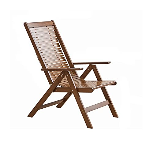 AHXF Wooden Folding Chair Recliner,Zero Gravity Lounge Chair, Lawn Patio Lounger Chair,reclining Beach Chairs Lightweight—Walnut—Enlarge The Chair Surface—Breathable And Cool