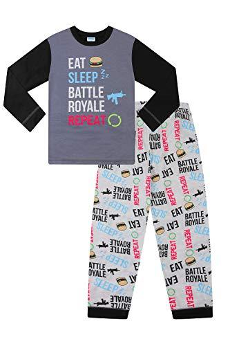Boys Eat Game Sleep Battle Royale Long Gaming Pajamas (16) Gray