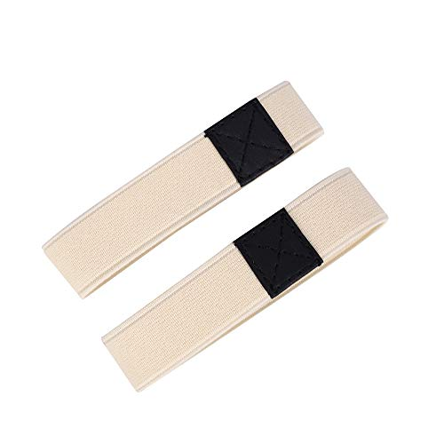 Florawang Elastic Shoe Strap Lace Band for Holding Loose High Heels Shoes (Apricot)