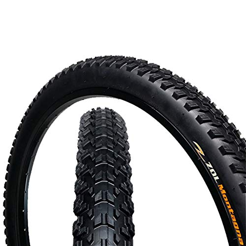 ZOL Montagna MTB Mountain Wire Bike Bicycle Tire 26x2.25 Black(1 PCS)
