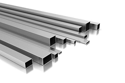 Aluminium Vierkantrohr/Rechteckrohr 20 x 10 x 2 mm x 2.000+-4 mm