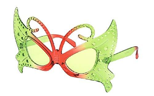narrenkiste Ra-F-003-1 grün Damen Herren Schmetterlingsbrille