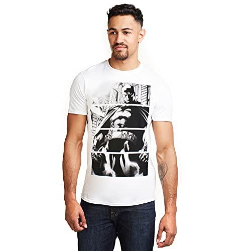 DC Comics Batman Panels Camiseta, Blanco (White White), Small para Hombre