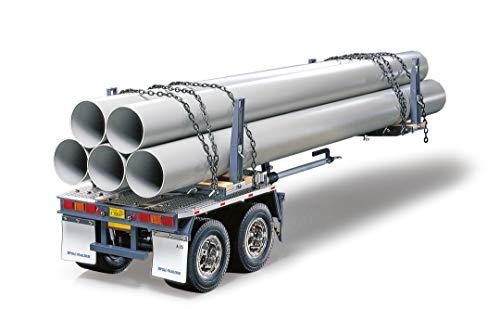 TAMIYA 56310 1:14 Rungen-Teleskop-Auflieger BS, Bausatz zum Zusammenbauen, RC Truck, fernsteuerbarer, Lastwagen,...