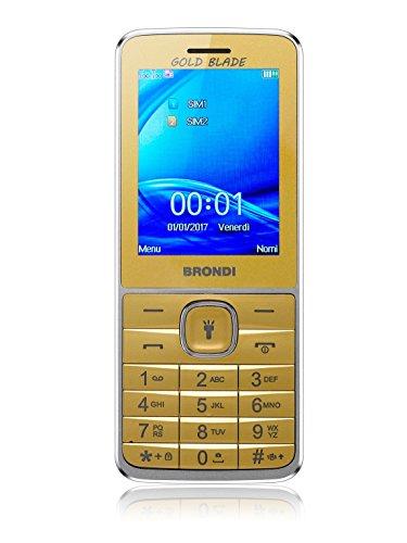 Brondi Blade Telefono Cellulare, Oro