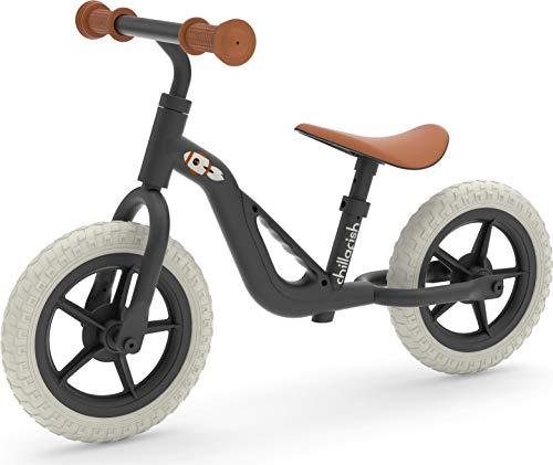Chillafish Leichtes Charlie-Laufrad mit Tragegriff, verstellbarem Sitz und Lenker, pannensicheren 10-Zoll-Rädern und speziell geformtem Sitz für Kinder zwischen 18 und 48 Monaten, Schwarz