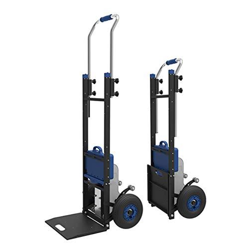 Carro portátil para subir escaleras y carro eléctrico para subir escaleras, carretilla plegable para subir escaleras Manual de servicio pesado, motor sin escobillas sin mantenimiento - batería de li