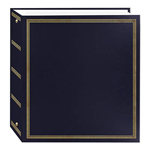 Pioneer Photo Albums TR-100 Navy Blue Magnetic 3-Ring Photo Album 100 Page