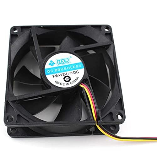 GMN Ordenador portátil DC12V 8CM PC Ordenador CPU Ventilador de refrigeración Enfriador Super Silencioso