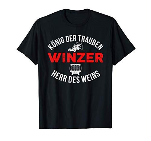 König Der Trauben Wein Winzer Weinbauer Weinhauer T-Shirt