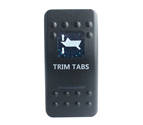 Bandc Waterproof Car Boat Blue Led 7 pin MOMENTARY ON/OFF/MOMENTARY ON DPDT TRIM TABS Auto Replacements Rocker Switch