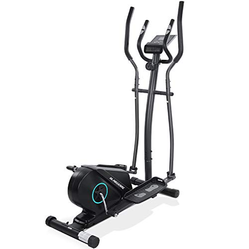 MaxKare Elliptical Machine for Home Use Elliptical Trainer Machine Portable Compact Quiet Smooth with Adjustable Flywheel Resistance LCD Monitor Extra Pedal Heavy Duty