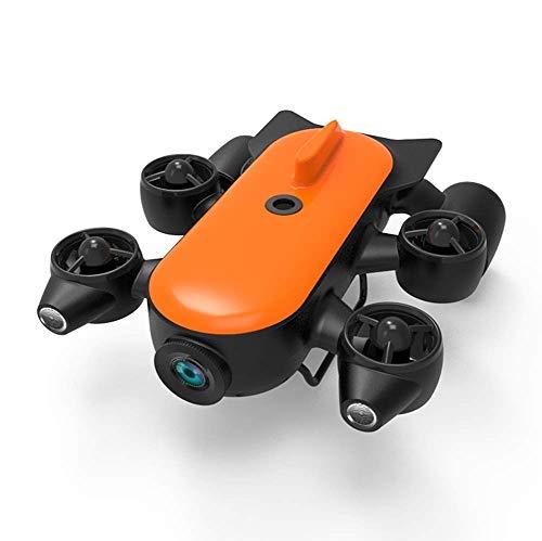 Drohneks Robot dron Submarino Profesional 150M / 100M con cámara de acción 4K UHD Control Remoto Detección submarina en Tiempo Real para visualización, Disparo, Pesca y Trabajo de Salvamento.