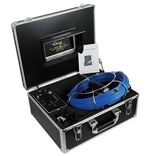 TIANG Telecamera per fognatura con contatore di Distanza e DVR 40M   131FT Cavo Tubo di Scarico Telecamera di ispezione con Monitor LCD da 7 Pollici 1000TVL Sony CCD (Scheda SD da 8 GB Gratuita)