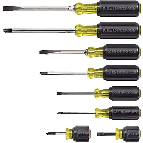 Klein Tools 85078 Screwdriver Set, 8 Piece All Purpose...