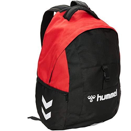 Hummel Core Ball - Borsa da spalla, taglia unica, colore: rosso/nero
